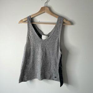 3.1 Phillip Lim gray black tank top sheer medium